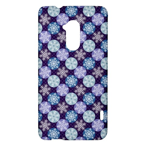 Snowflakes Pattern HTC One Max (T6) Hardshell Case