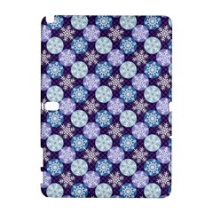 Snowflakes Pattern Samsung Galaxy Note 10.1 (P600) Hardshell Case