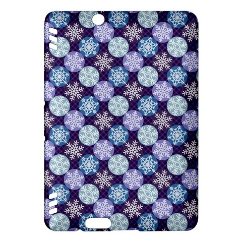 Snowflakes Pattern Kindle Fire HDX Hardshell Case