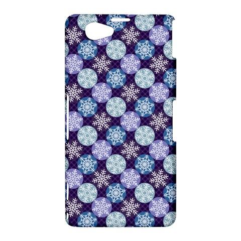 Snowflakes Pattern Sony Xperia Z1 Compact