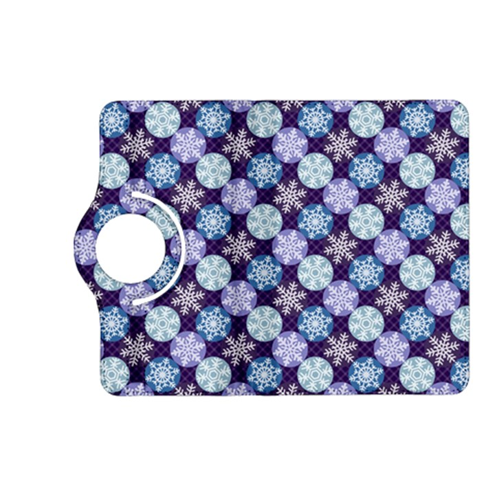 Snowflakes Pattern Kindle Fire HD (2013) Flip 360 Case