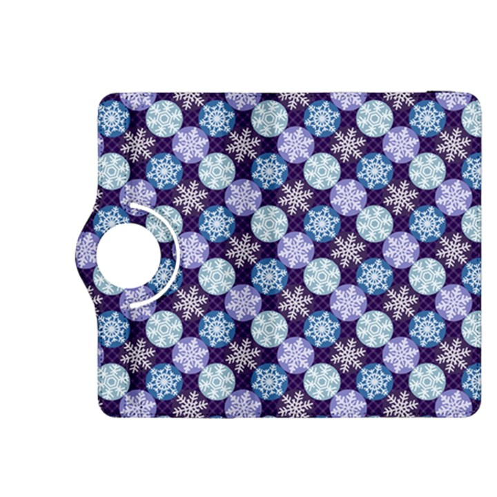 Snowflakes Pattern Kindle Fire HDX 8.9  Flip 360 Case