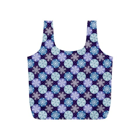 Snowflakes Pattern Full Print Recycle Bags (S)