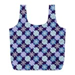 Snowflakes Pattern Full Print Recycle Bags (L)  Front