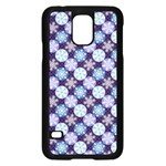 Snowflakes Pattern Samsung Galaxy S5 Case (Black) Front