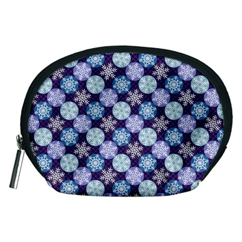 Snowflakes Pattern Accessory Pouches (Medium)