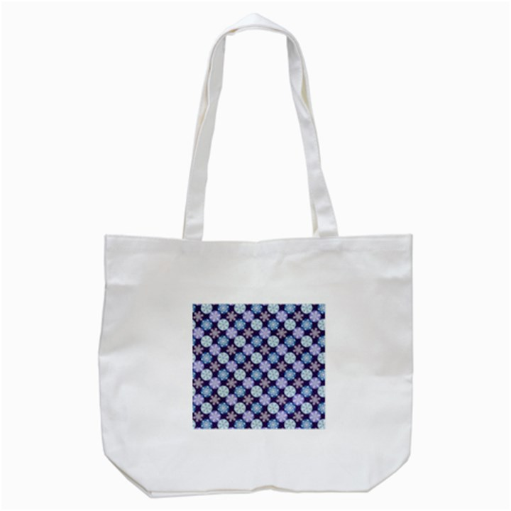 Snowflakes Pattern Tote Bag (White)