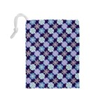 Snowflakes Pattern Drawstring Pouches (Medium)  Back