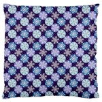 Snowflakes Pattern Large Flano Cushion Case (Two Sides) Back