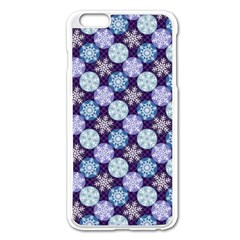 Snowflakes Pattern Apple Iphone 6 Plus/6s Plus Enamel White Case