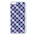 Snowflakes Pattern Apple iPhone 6 Plus/6S Plus Enamel White Case Front