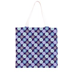 Snowflakes Pattern Grocery Light Tote Bag