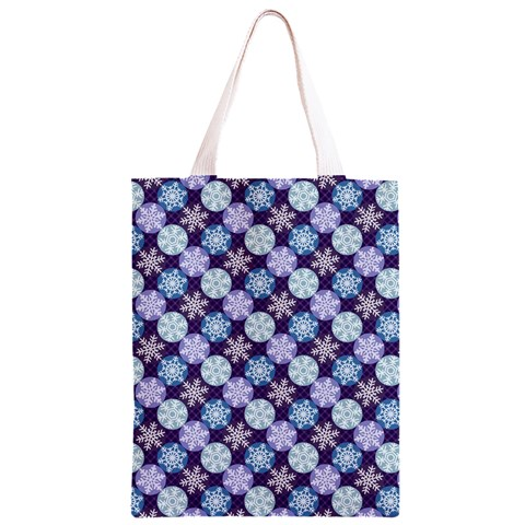Snowflakes Pattern Classic Light Tote Bag
