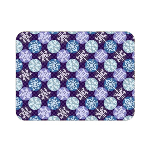 Snowflakes Pattern Double Sided Flano Blanket (Mini)
