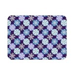 Snowflakes Pattern Double Sided Flano Blanket (Mini)  35 x27 Blanket Front