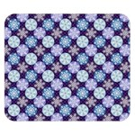 Snowflakes Pattern Double Sided Flano Blanket (Small)  50 x40 Blanket Front