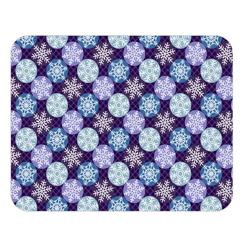 Snowflakes Pattern Double Sided Flano Blanket (Large)