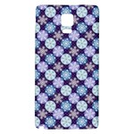 Snowflakes Pattern Galaxy Note 4 Back Case Front