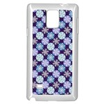 Snowflakes Pattern Samsung Galaxy Note 4 Case (White) Front
