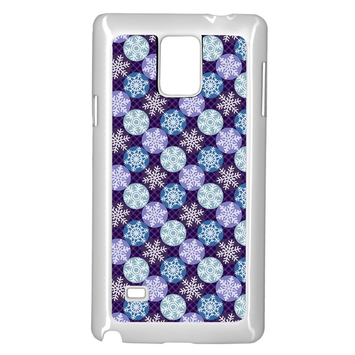 Snowflakes Pattern Samsung Galaxy Note 4 Case (White)