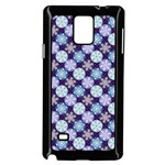 Snowflakes Pattern Samsung Galaxy Note 4 Case (Black) Front