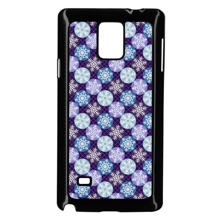 Snowflakes Pattern Samsung Galaxy Note 4 Case (Black)