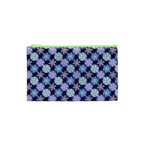 Snowflakes Pattern Cosmetic Bag (XS)