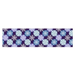 Snowflakes Pattern Satin Scarf (oblong)