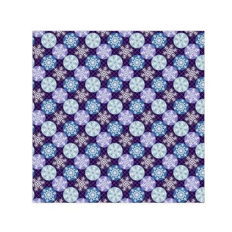 Snowflakes Pattern Small Satin Scarf (Square)