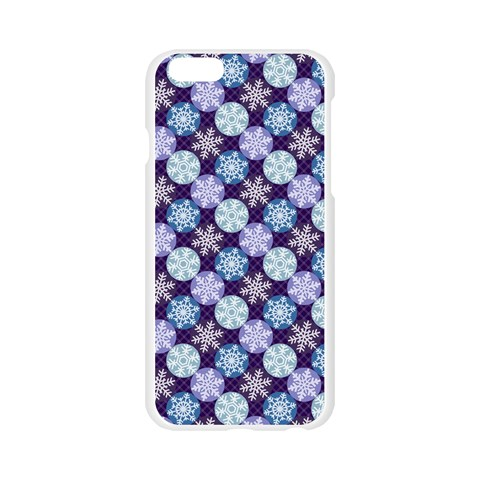 Snowflakes Pattern Apple Seamless iPhone 6/6S Case (Transparent)