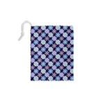 Snowflakes Pattern Drawstring Pouches (XS)  Back