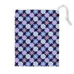 Snowflakes Pattern Drawstring Pouches (Extra Large) Front