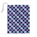 Snowflakes Pattern Drawstring Pouches (Extra Large) Back