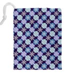 Snowflakes Pattern Drawstring Pouches (XXL) Back