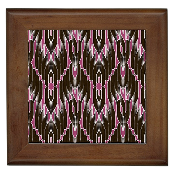 Pearly Pattern  Framed Tiles