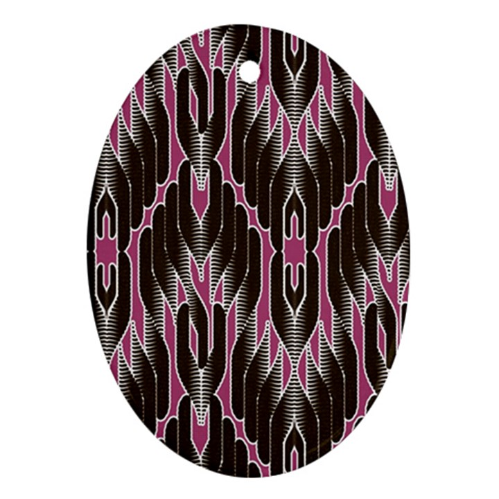 Pearly Pattern  Ornament (Oval)