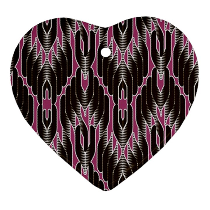 Pearly Pattern  Ornament (Heart)