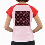 Pearly Pattern  Women s Cap Sleeve T-Shirt Back