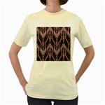 Pearly Pattern  Women s Yellow T-Shirt Front