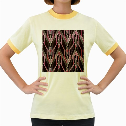 Pearly Pattern  Women s Fitted Ringer T-Shirts