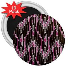 Pearly Pattern  3  Magnets (10 pack)