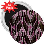 Pearly Pattern  3  Magnets (10 pack)  Front