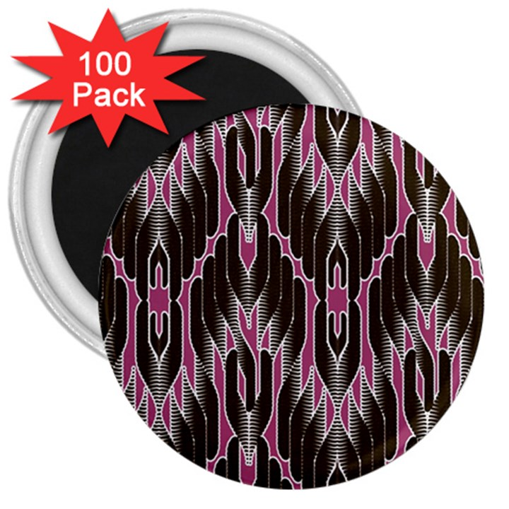 Pearly Pattern  3  Magnets (100 pack)