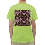 Pearly Pattern  Green T-Shirt Back