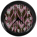 Pearly Pattern  Wall Clocks (Black) Front