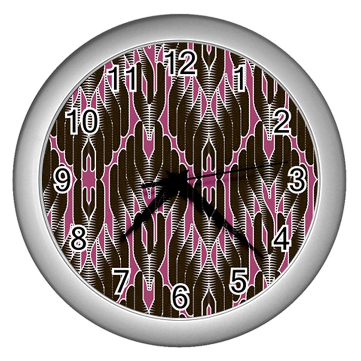 Pearly Pattern  Wall Clocks (Silver)