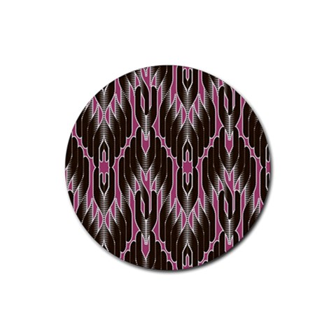 Pearly Pattern  Rubber Coaster (Round)