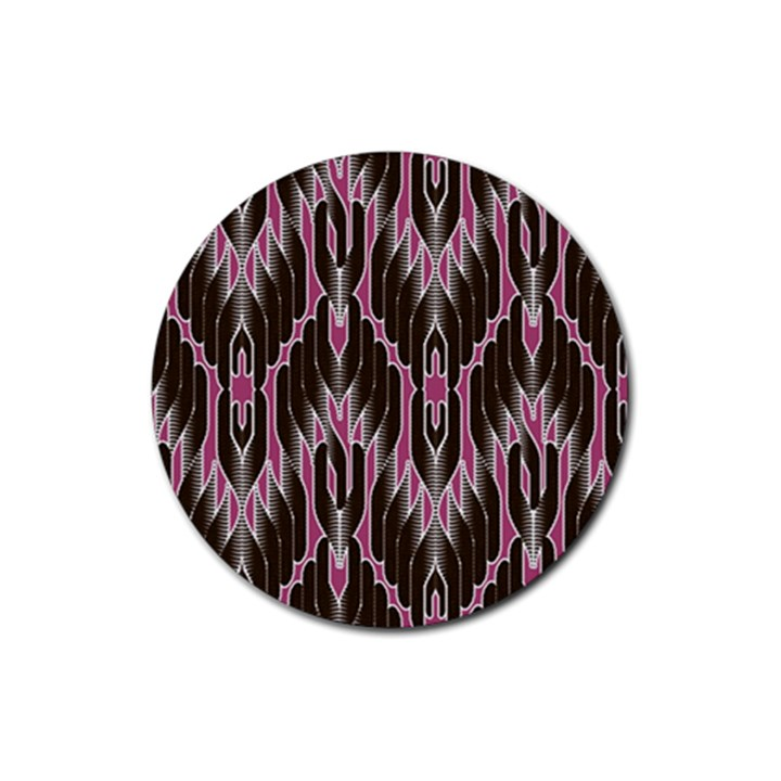 Pearly Pattern  Rubber Round Coaster (4 pack)