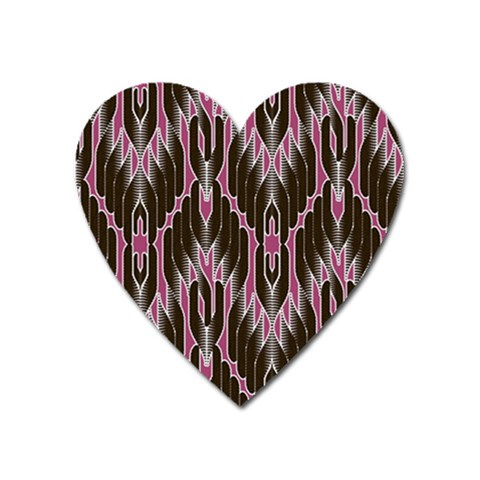 Pearly Pattern  Heart Magnet