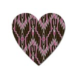 Pearly Pattern  Heart Magnet Front